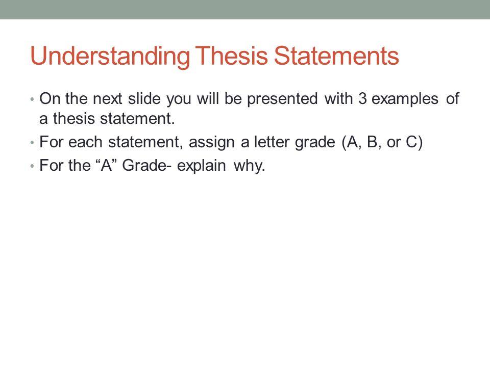 understanding thesis