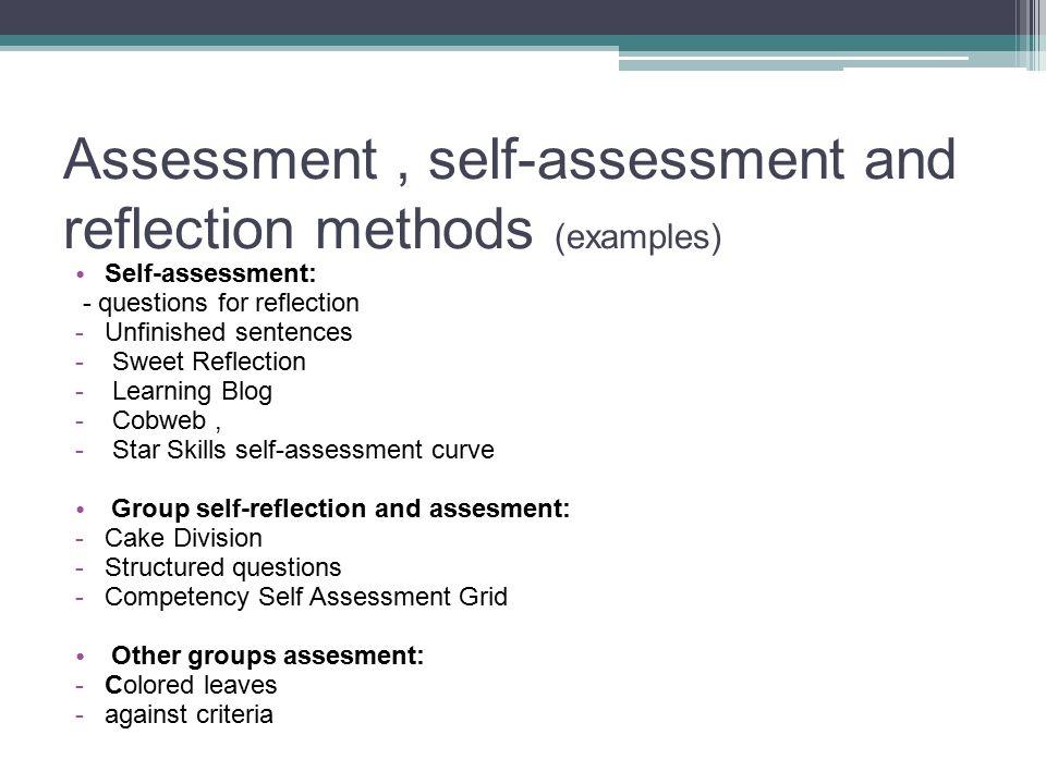 self reflection group presentation