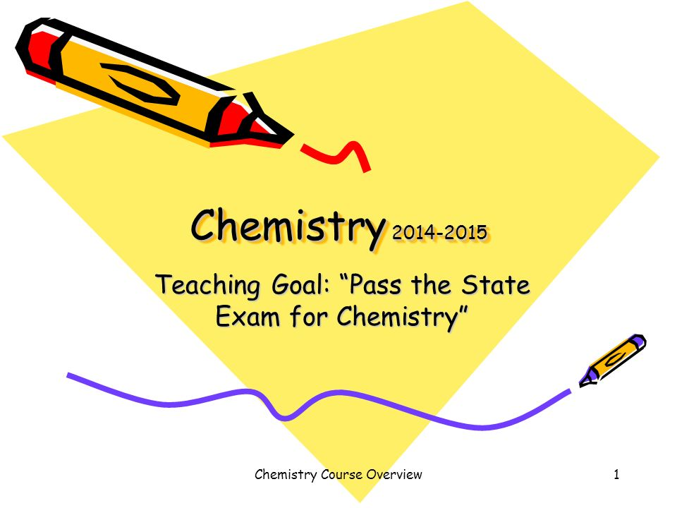 "teaching goal ""pass the state exam for chemistry"" ppt video  teaching goal pass the state exam for chemistry"
