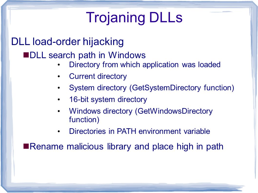 Part 4 malware functionality ppt download for Window load function