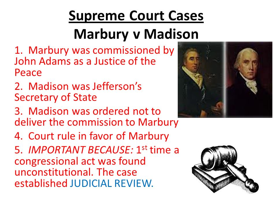 an introduction to the constitutional law marbury verses madison case