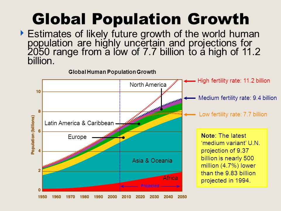 10 projections for the global population in 2050