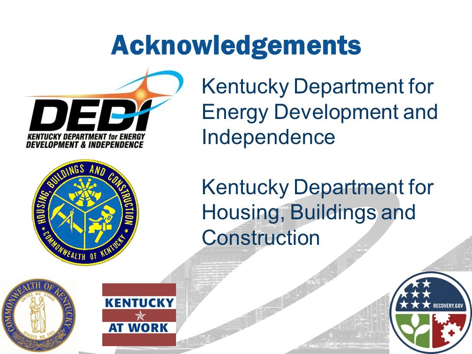 Kentucky Department Of Building And Construction