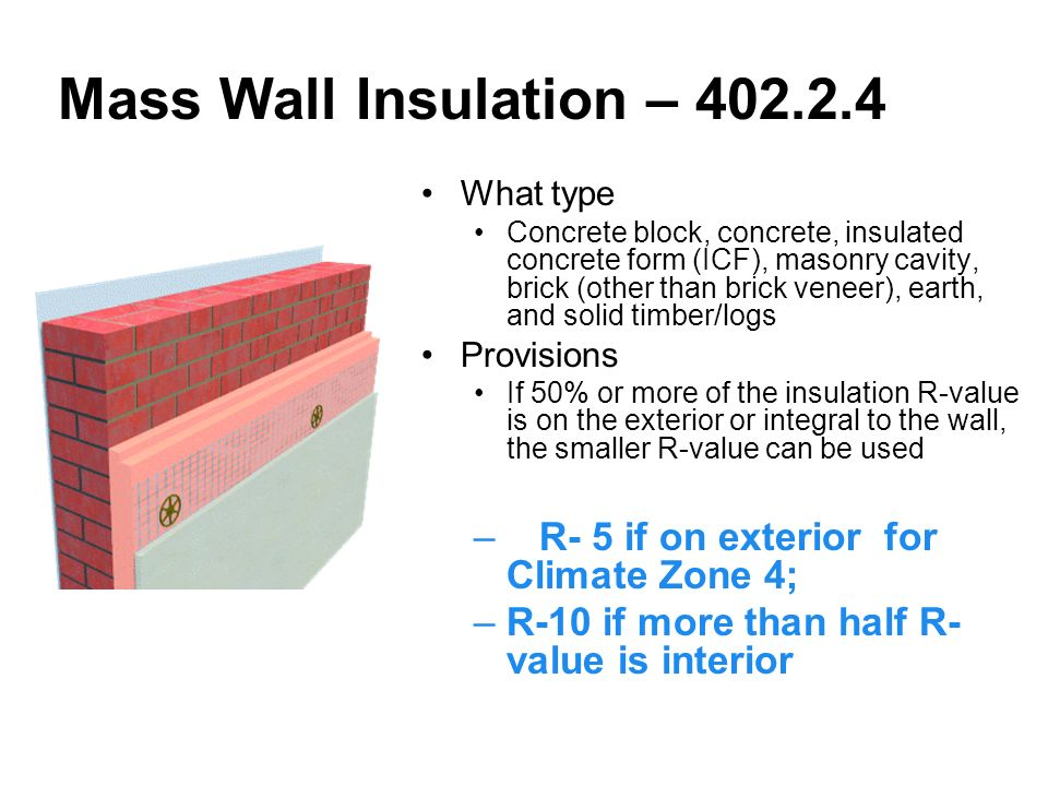 Kentucky training 2009 iecc residential provisions ppt download for Block wall insulation exterior