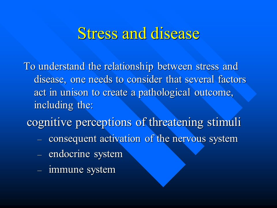 relationship between stress and illness essay In this essay i shall be looking at the relationship between stress, anxiety, habits and phobias and looking at the ways to treat each with hypnotherapy.