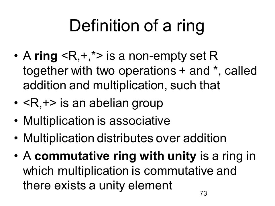 Definition Of Abelian Ring