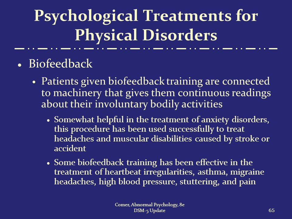 psychological therapy for treating anxiety disorders psychology essay We excluded studies in which a psychological treatment was compared  as treatment of generalized anxiety disorder  psychology and mental .