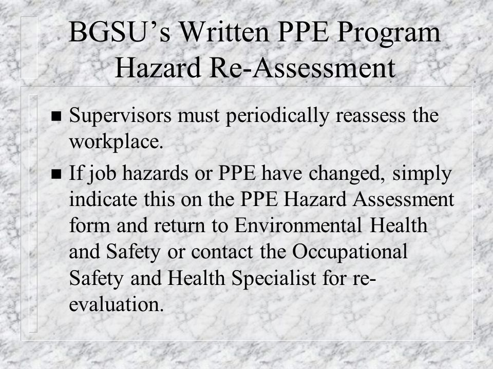 ppe hazard assessment form