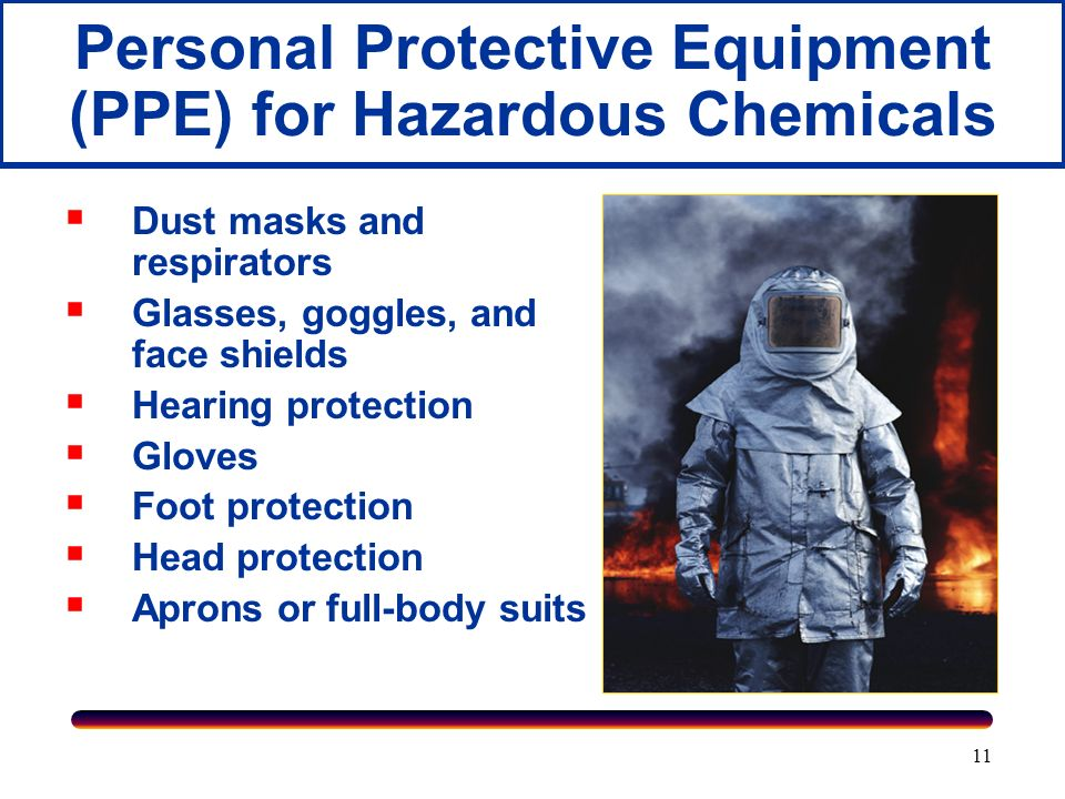 Personal Protective Equipment (PPE) for Hazardous Chemicals