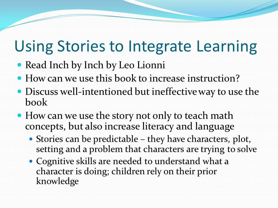 Using Stories to Integrate Learning