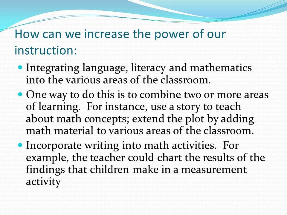 How can we increase the power of our instruction:
