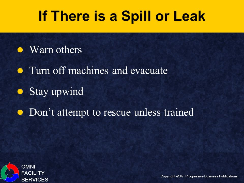 If There is a Spill or Leak