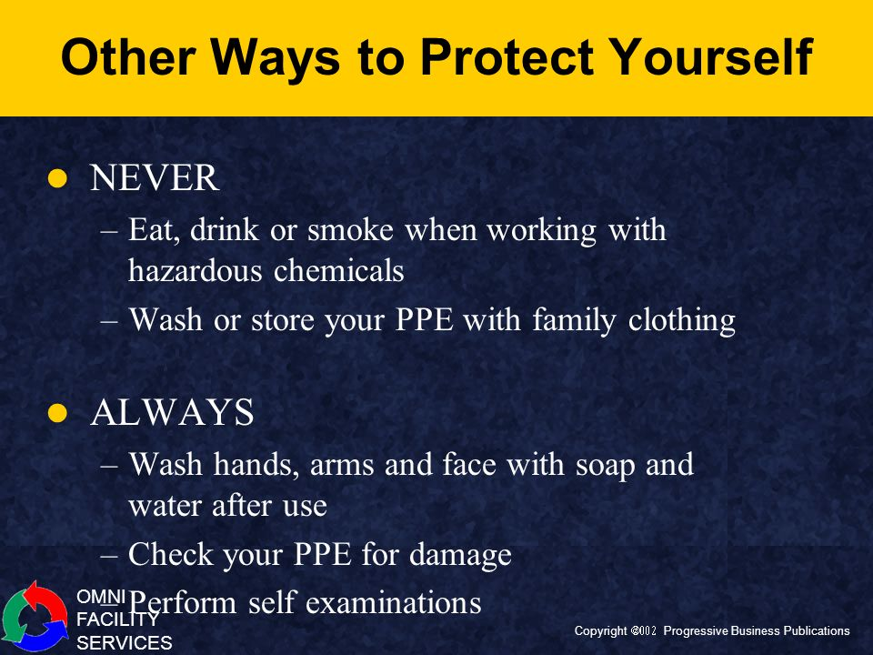 Other Ways to Protect Yourself