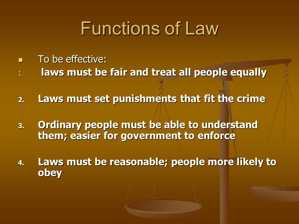 3 functions law A lutheran view of the third use of the law by ryan c macpherson in the life of the believer, the law functions both to work daily contrition and repentance.