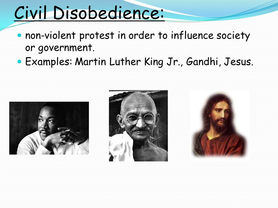 The implication of the disobedience of laws in society