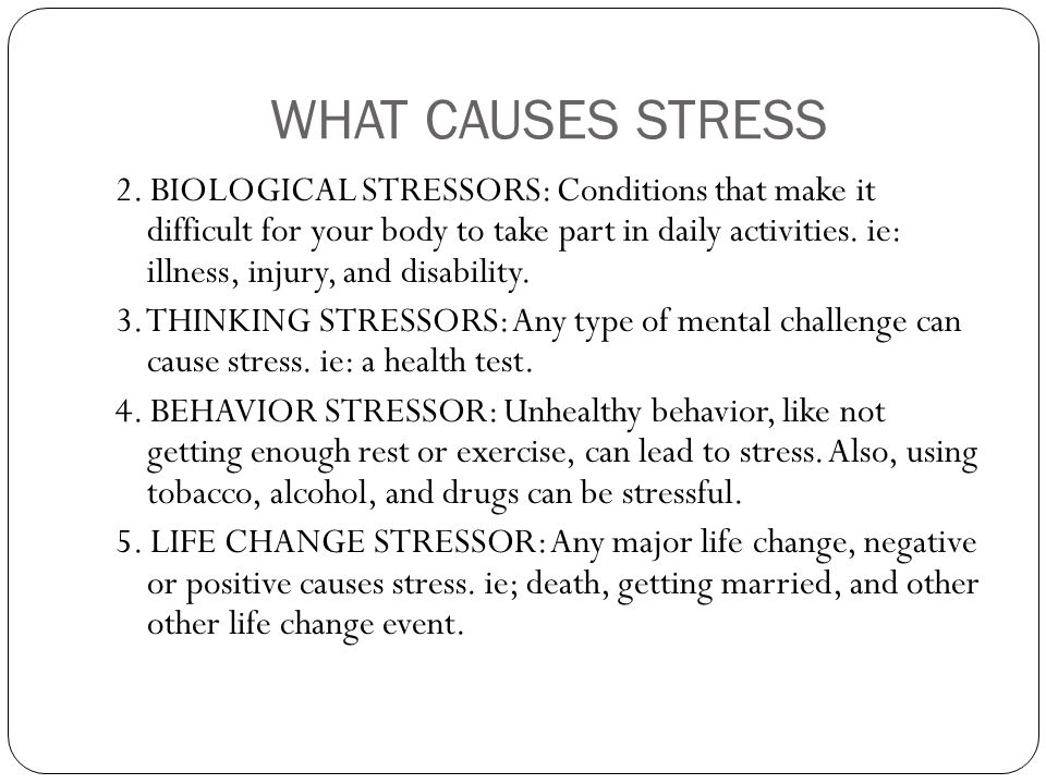 stress types of stress faced by In psychology, stress is a feeling of strain and pressure [citation needed] stress is a type of psychological painsmall amounts of stress may be desired, beneficial, and even healthy.