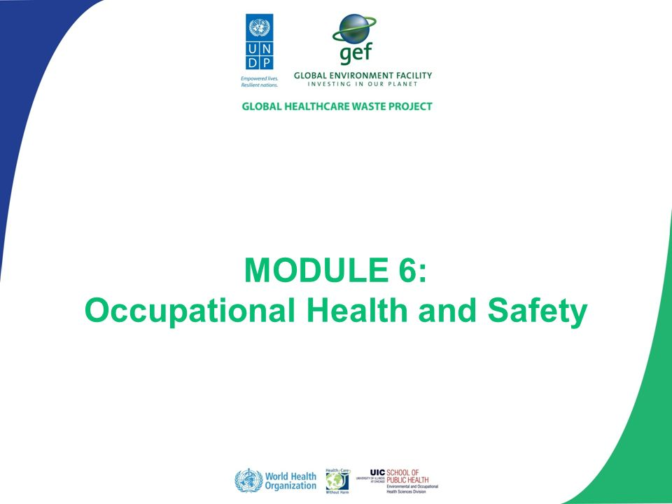 Module 6 Occupational Health And Safety Ppt Video Online Download