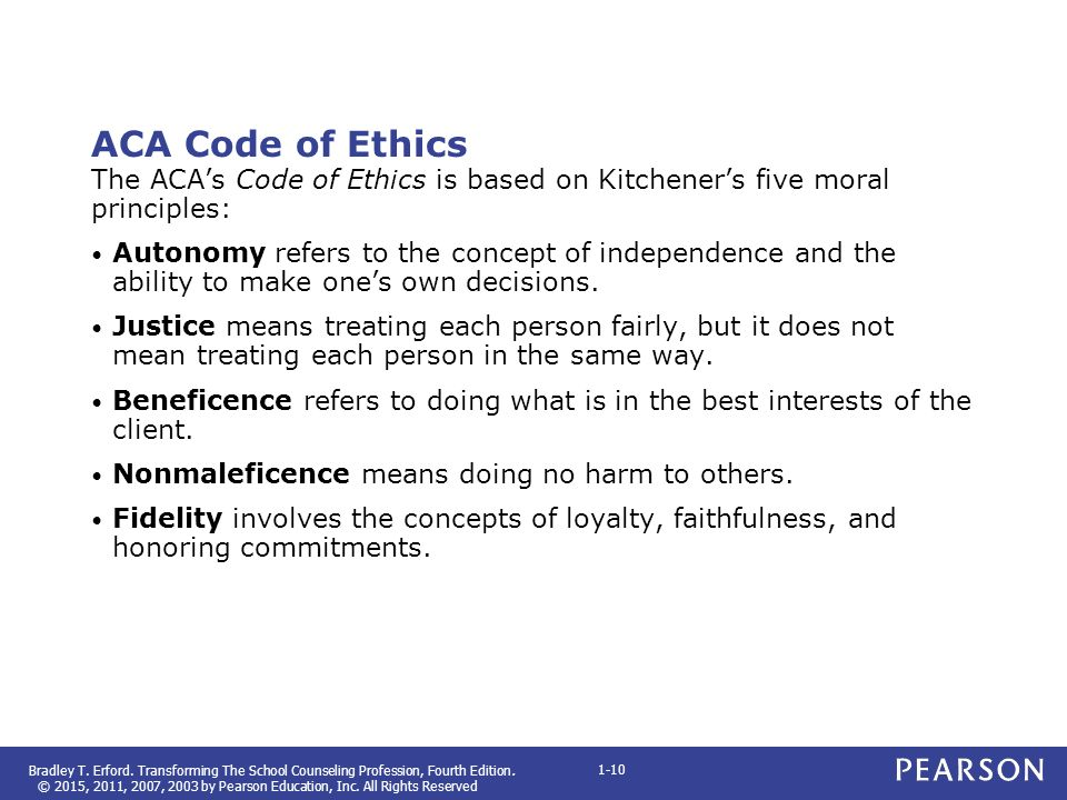 Kitchener S Five Ethical Principles