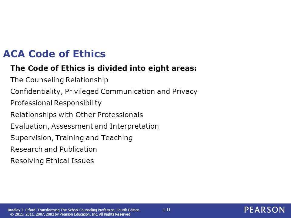 ehtics in counseling comparison Ethics and values in counseling: how they are different, and not the same thing at all.