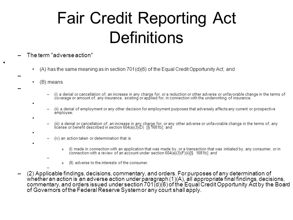 Independent insurance agents of virginia ppt download fair credit reporting act definitions reheart Choice Image