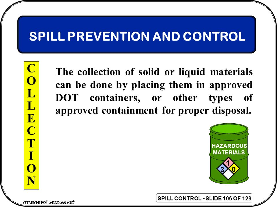 SPILL PREVENTION AND CONTROL