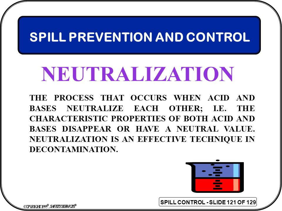 NEUTRALIZATION SPILL PREVENTION AND CONTROL