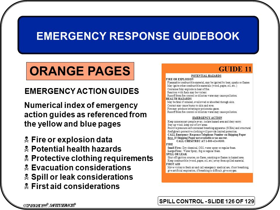 EMERGENCY ACTION GUIDES