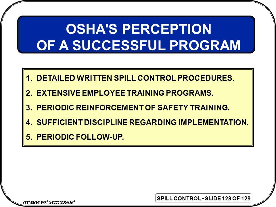 OF A SUCCESSFUL PROGRAM
