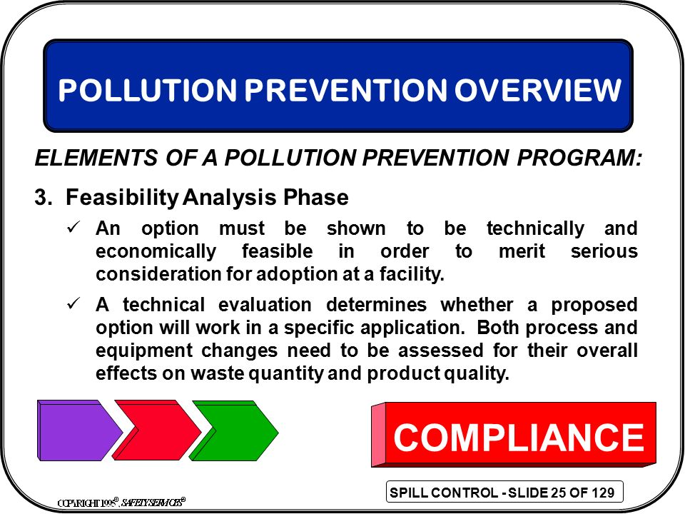 COMPLIANCE POLLUTION PREVENTION OVERVIEW
