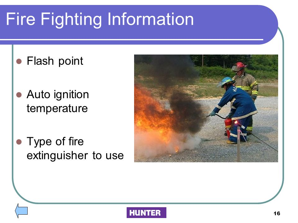 Fire Fighting Information