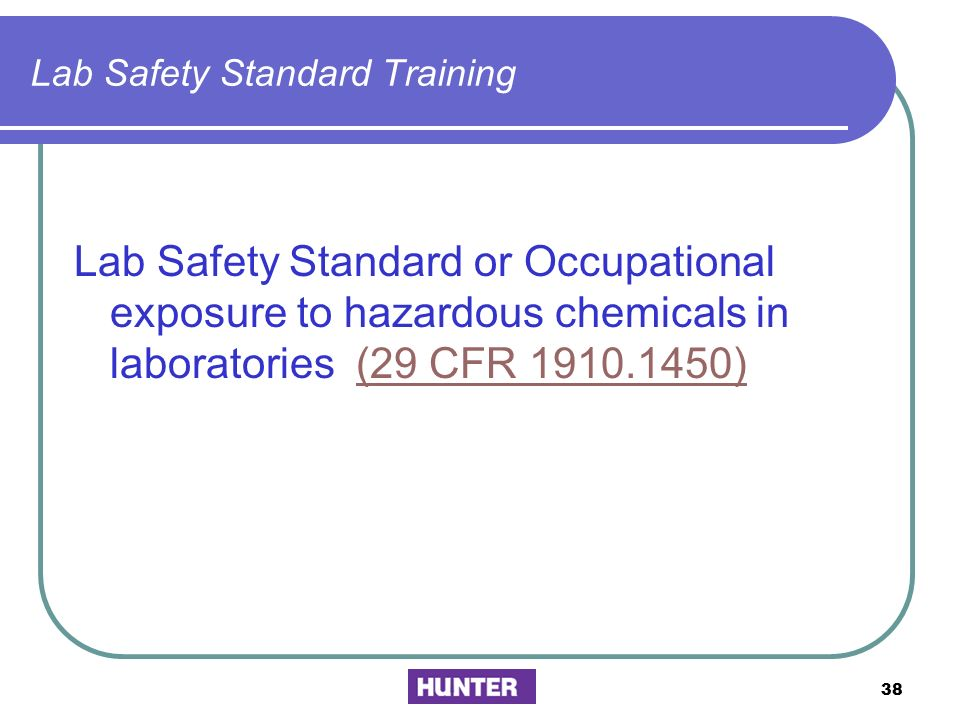 Lab Safety Standard Training