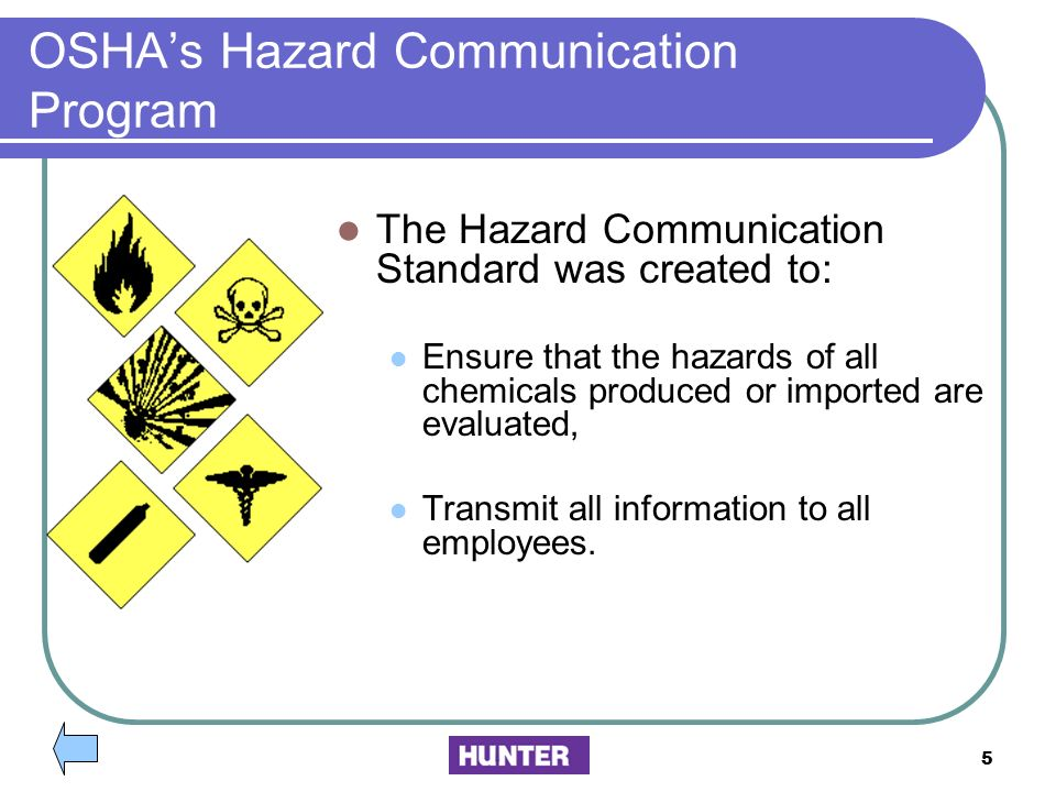 OSHA's Hazard Communication Program