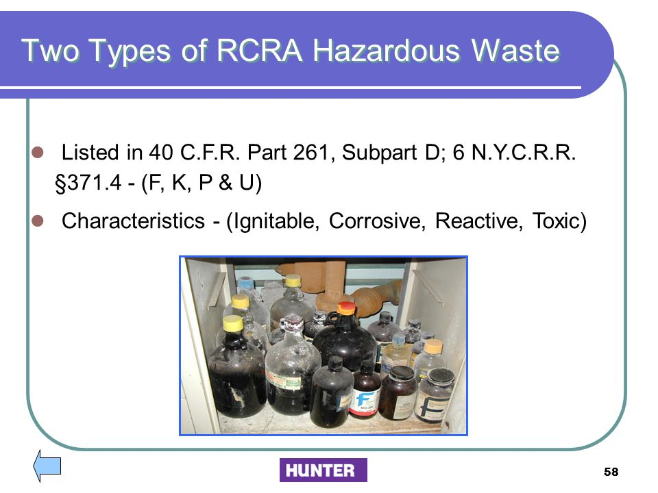 Two Types of RCRA Hazardous Waste