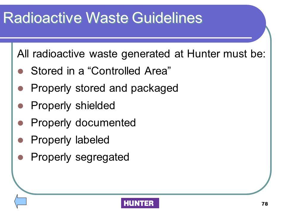 Radioactive Waste Guidelines