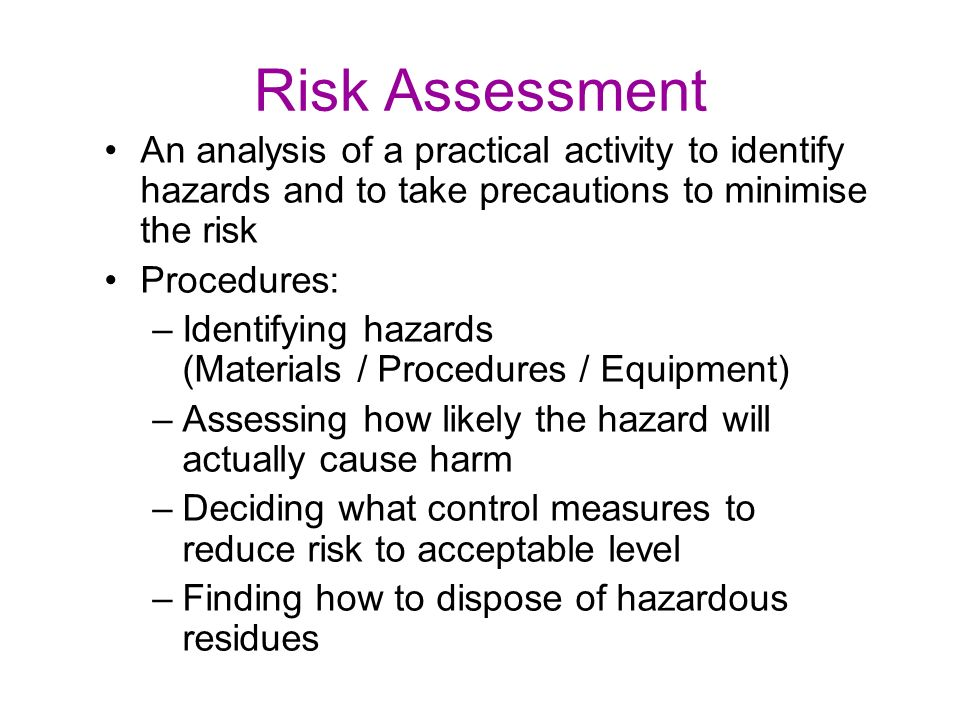 demonstrate ways to minimise potential risks and hazards Appreciate the importance of identifying hazards, considering risks, explaining ways of risks: ways to minimise potential hazards in health and social care.