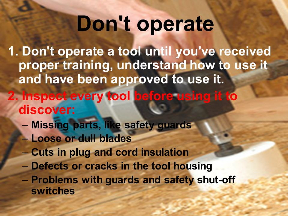 What Are The Hazards Of Hand Tools Ppt Download