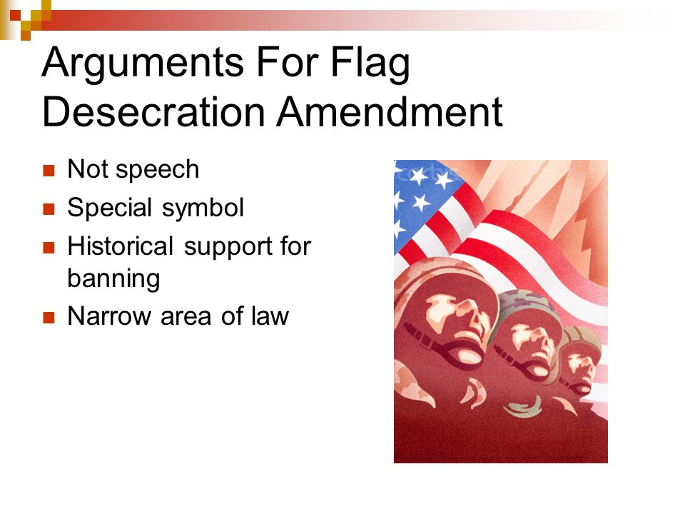 an analysis of first amendment in flag burning Concurring)) 2 john hart ely, flag desecration: a case study in the roles of  categorization and bal- ancing in first amendment analysis, 88 h arv l rev.