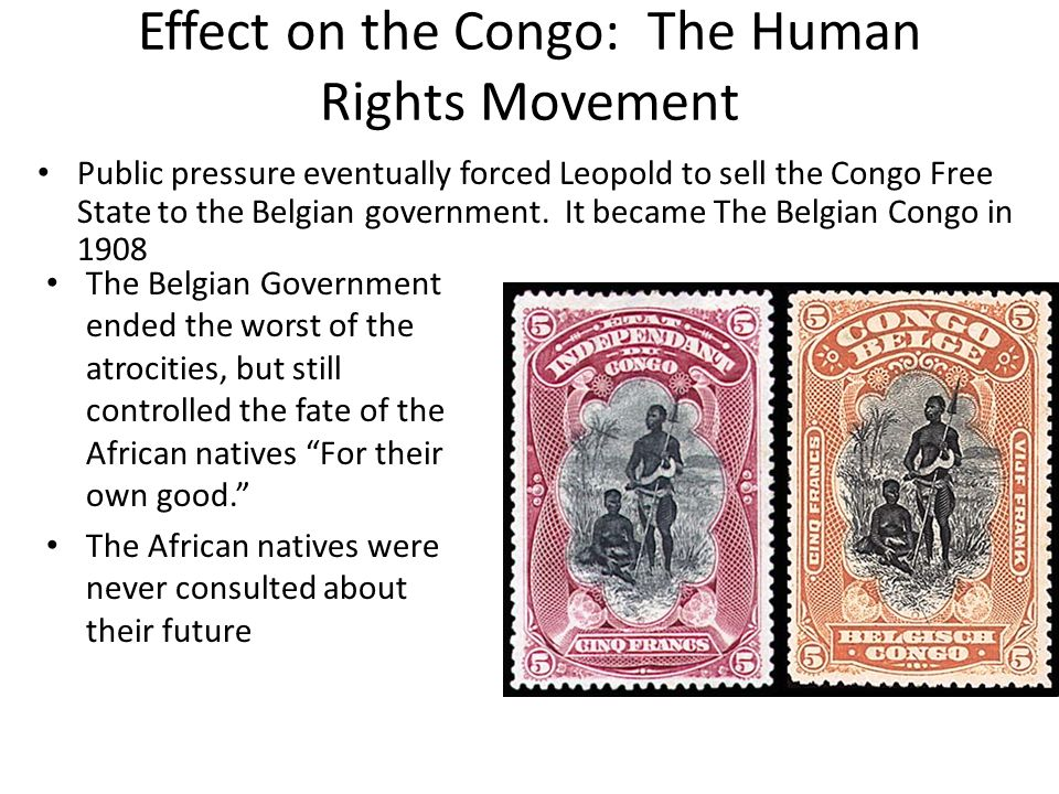 Effect on the Congo: The Human Rights Movement