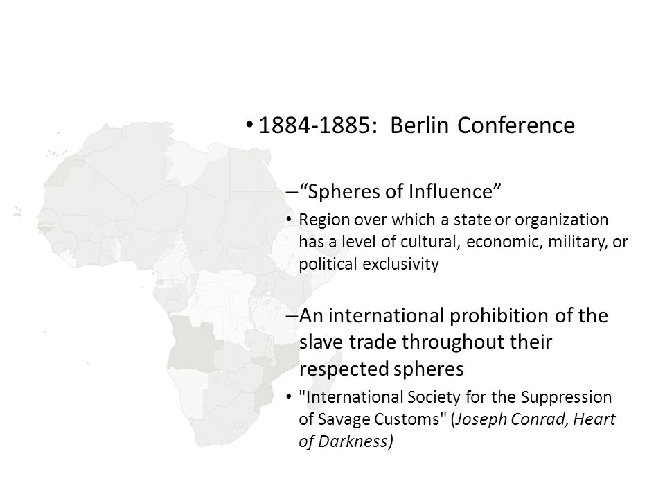 : Berlin Conference Spheres of Influence