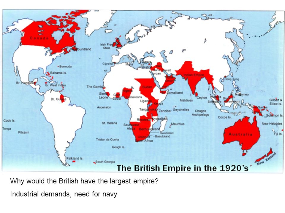 Why would the British have the largest empire