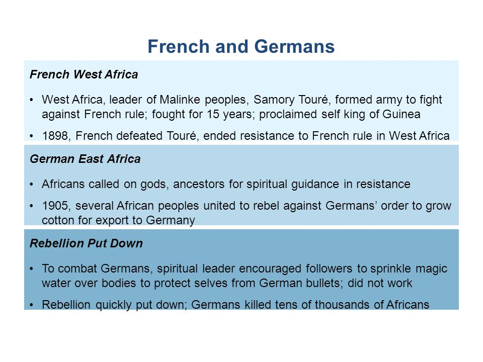 French and Germans French West Africa