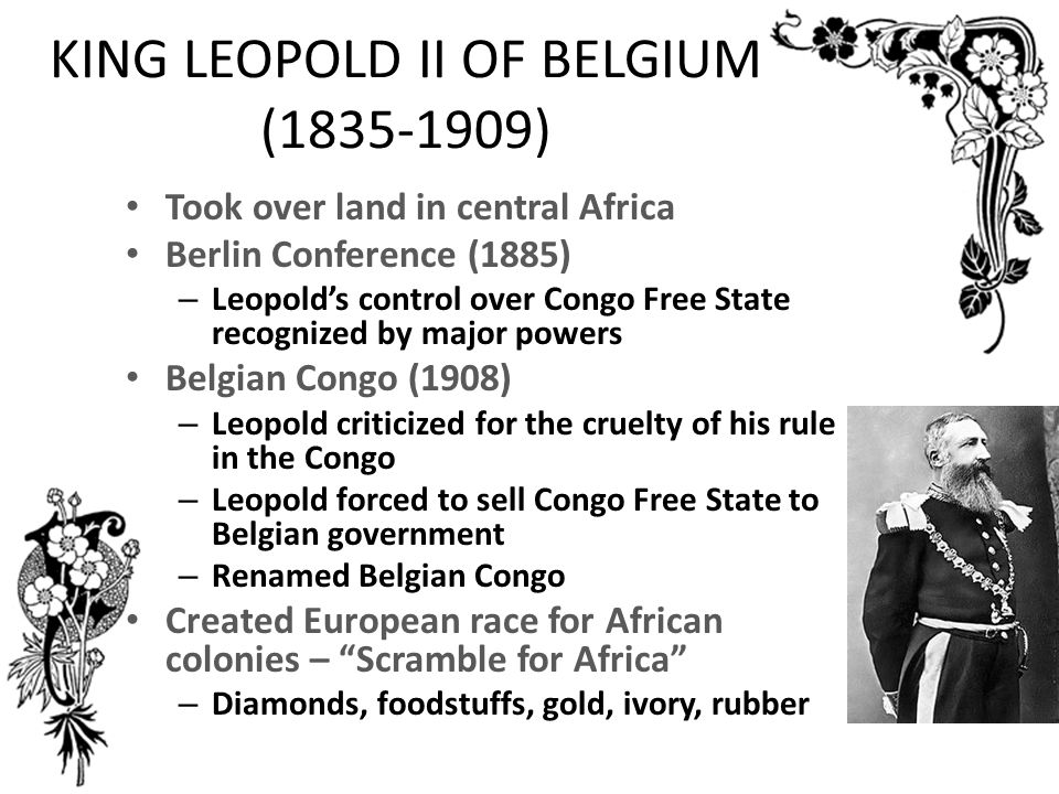 KING LEOPOLD II OF BELGIUM ( )