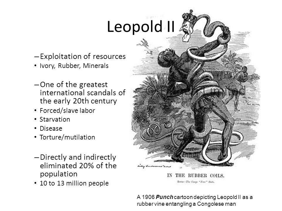 Leopold II Exploitation of resources