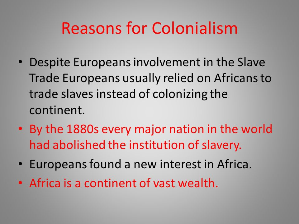 the reason for the abolishement of slave trade Even though the transatlantic slave trade was abolished throughout the british empire and in the united states the abolition of the slave trade.