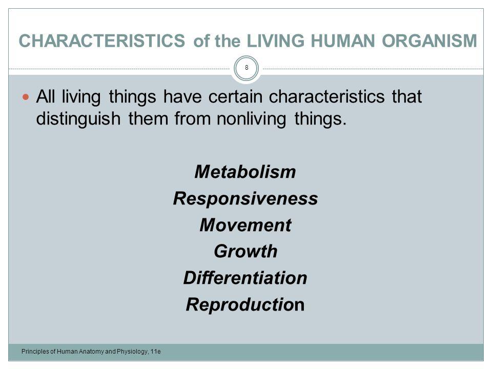 Characteristics Of Life Anatomy