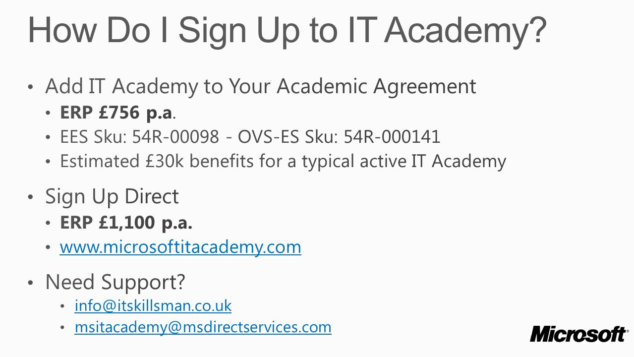 How Do I Sign Up to IT Academy