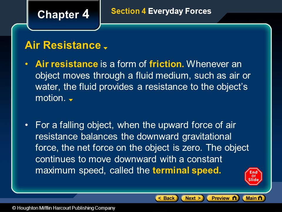 Chapter 4 Air Resistance