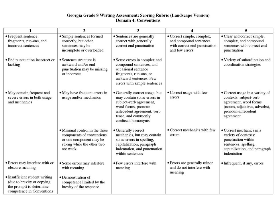 georgia department of education 3rd grade writing assessments
