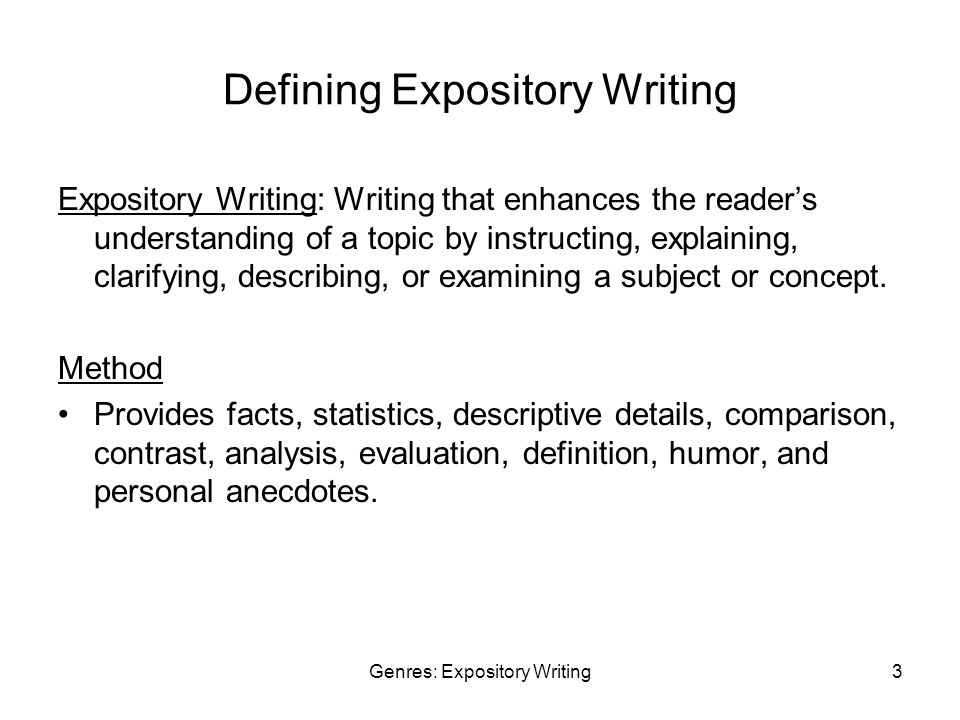 Writing Expository Essays