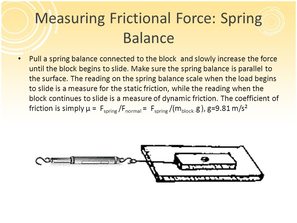 force and spring balance Hooke's law states that the restoring force of a spring is directly proportional to a  small displacement in equation form, we write f = -kx where x is the size of.